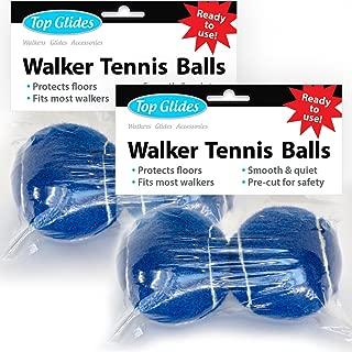 Top Glides Precut Walker Tennis Ball Glides - Dark Blue - 2 Pairs