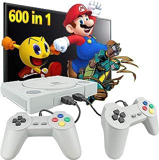 کنسول بازی Fadist Retro ، ساخته شده در 600 بازی ، کنسول بازی ویدیویی کلاسیک ، با 2 کنترل کننده کلاسیک ، پلاگین خروجی AV و کنسول بازی های بازی ، هدیه ایده آل برای کودکان ، بزرگسالان ، دوست ، عاشق