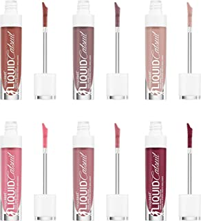 Wet N Wild Megalast Liquid Catsuit High Shine Lipstick Set - Caught You Bare Naked, Send Nudes, Cedar Later, Mauve Over Girl, Flirt Alert and Wine Is The Answer