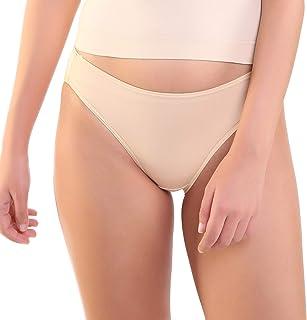 KATEINTIMATES Women's Plain/Solid Panty (K691972-SKIN-S_Skin_Small)