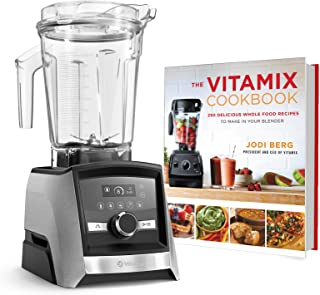 Vitamix A3500 Ascent Series Smart Blender, Professional-Grade, 64 oz. Low-Profile Container Bundle with The Vitamix Cookbo...
