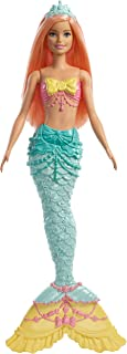 Barbie Dreamtopia Mermaid Doll, Approx. 12-Inch, Rainbow Tail, Coral Hair, for 3 to 7 Year Olds