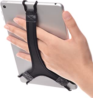 "TFY タブレット用安全ハンドストラップ - 対応 Fire 7"" / Fire HD 8 / i Pad mini/Galaxy Tab S 8.4 / Galaxy Tab 2 / 3 / 4 / Galaxy Tab 7.7 (ブラック)"