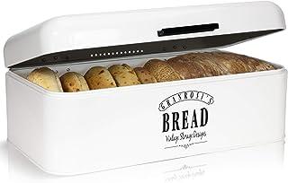 Granrosi Brotkasten im Retro Design - Geräumige Metall Brotbox hält Brot und Brötchen länger frisch und ist EIN optisches Highlight in jeder Küche