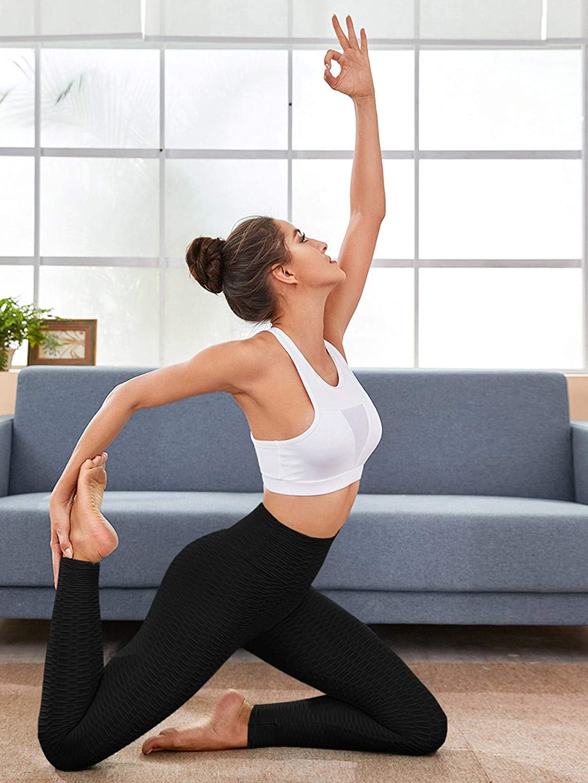 SOLY HUX Women's Elastic High Waisted Skinny Leggings Workout Yoga Pants