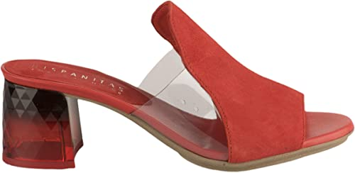 HISPANITAS THV98944 - Zueco Ante rot para damen Farbe  rot Größe  41