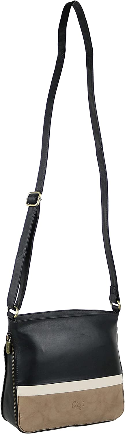 GIGI Women'S Leather Expandable  Cross Body Bag