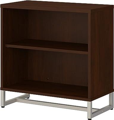 Bush Business Furniture Office by kathy ireland Method 2 Shelf Bookcase Cabinet, Century Walnut