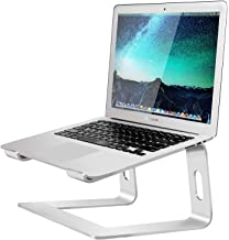 Soundance Patented Laptop Stand for Desk Compatible with Mac MacBook Pro Air Apple Notebook, Portable Holder Ergonomic Elevator Metal Riser for 10 to 15.6 inch PC Desktop Computer, LS1 Aluminum Silve