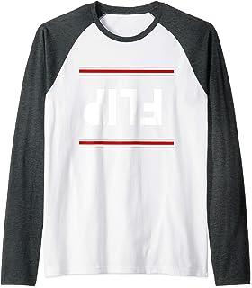 Flip Upside Down Unspeakable Adult size T-Shirt Raglan Baseball Tee