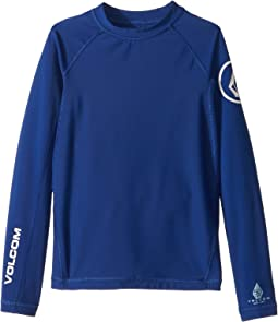 Volcom Kids - Lido Solid Long Sleeve Thrashguard (Big Kids)