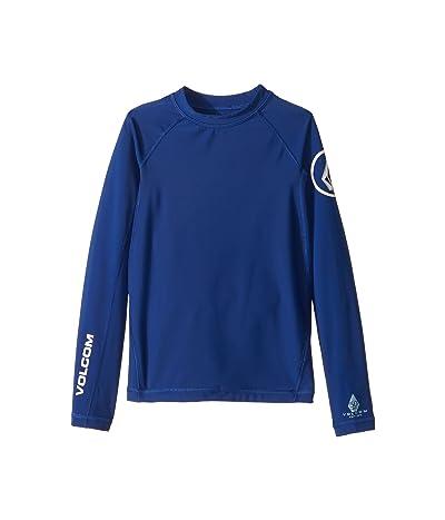 Volcom Kids Lido Solid Long Sleeve Thrashguard (Big Kids) (Camper Blue) Boy