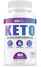 Keto You Diet Pills 800mg Supplement Ketoyou Advanced Weight Formula for Women and Men, Exogenous Ketones for Rapid Ketosi...
