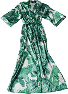 Women Kimono Long Robe Bridesmaid Wedding Party Beach Cover Up Nightgown Floral