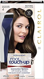 Clairol Nice 'n Easy Root Touch-Up 4 Kit , Matches Dark Brown Shades of Hair Coloring, Includes Precision Brush Applicator Tool (PACKAGING MAY VARY) (Pack of 2)