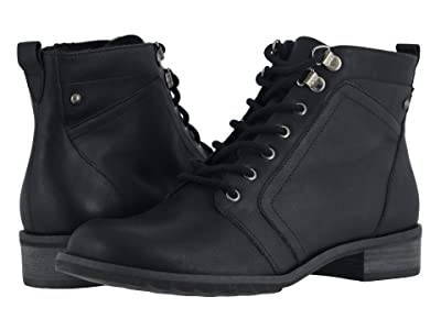 Walking Cradles Kara (Black Rustic Leather) Women