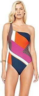 Gottex Radiance Sunrise V-Neck Surplice One Piece Swimsuit Size 12 Blue