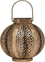TERESA'S COLLECTIONS 11 inch Outdoor Hanging Solar Lantern Lights with Baroque Pattern, Waterproof Solar Decorative Lanter...