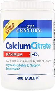 21st Century, Calcium Citrate Maximum + D3, 400 Tablets