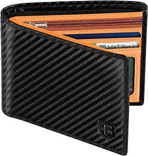 Portafoglio Uomo, BIAL Blocco RFID Pelle Portafoglio Slim, 8 Porta Carte di Credito 2 Finestre Di Identificazione, Portafo...