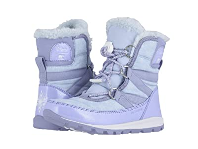 SOREL Kids Disney X Sorel Whitneytm Short Lace Elsa (Toddler/Little Kid) (Frosted Purple/Pure Silver) Girls Shoes