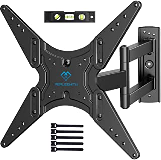 PERLESMITH TV Wall Mount for Most 26-55 Inch Flat Curved TVs with Swivels, Tilts & Extends 19.5 Inch - Wall Mount TV Brack...