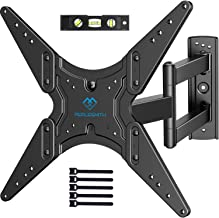 PERLESMITH TV Wall Mount for Most 26-55 Inch Flat Curved TVs with Swivels, Tilts &..