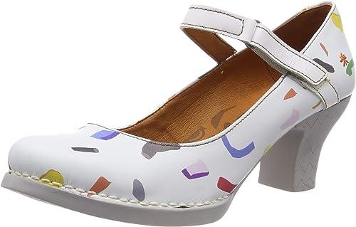 ART 0933f Fantasy Confeti blanco Harlem, zapatos de tacón con Punta Cerrada para mujer