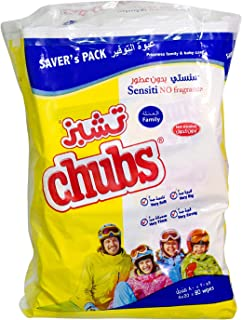 Chubs Family Wipes 20's Pack Sensiti - 4X20 Wipes, Piece of 80