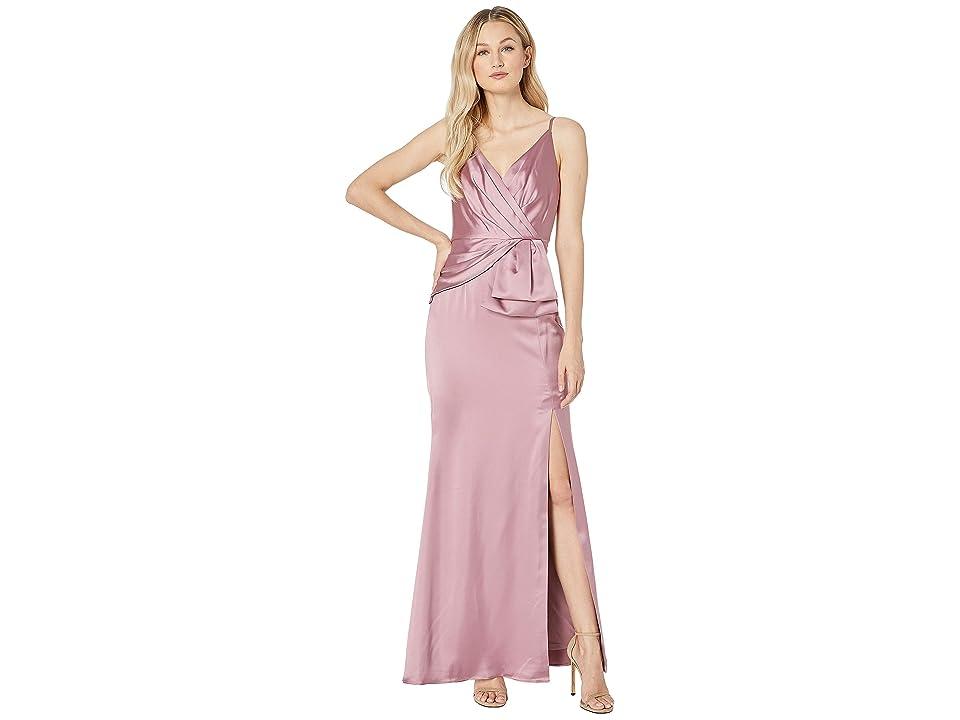 Adrianna Papell Light Satin Dress (Rose) Women