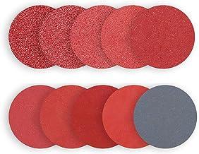 Lixa Lasamot 100 peças de discos de lixa 80 100 180 240 600 800 1000 1200 2000 3000 com alavanca de conexão de 3,175 mm e ...