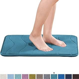 Memory Foam Bath Mat Soft Non Slip Bath Mat Toilet Floor Rug Non Slip Rubber Backing Non Slip Absorbent Super Cozy Velvet Bathroom Rug Carpet (17