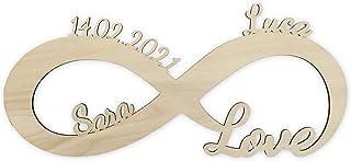 LAC Lampada LED Regalo lui e lei personalizzabile per lei lui Amore Idea Idee Regali Anniversario Matrimonio con Nome Raga...