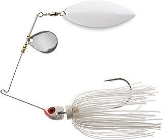 Megastrike Strike Back Spinner Bait (1/2-Ounce, White Blade White Skirt)