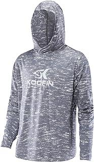 KOOFIN GEAR Performance Fishing Hoodie UPF50 Sunblock Shirt Outdoor Quick-Dry Athletic Sweatshirt