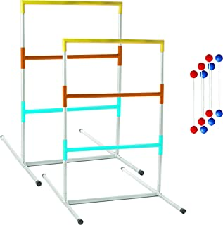 Franklin Sports Ladder Ball Set — Includes 2 Ladder Ball Targets with Weighted Bases and 6 Bolas — Ladder Golf Toss Outdoor Game For Beach or Backyard Fun — Professional, American, and Family Set Options