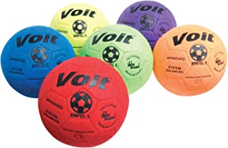 Voit Indoor Felt Soccer Ball (Prism Pack), Size 4, Pack of 6