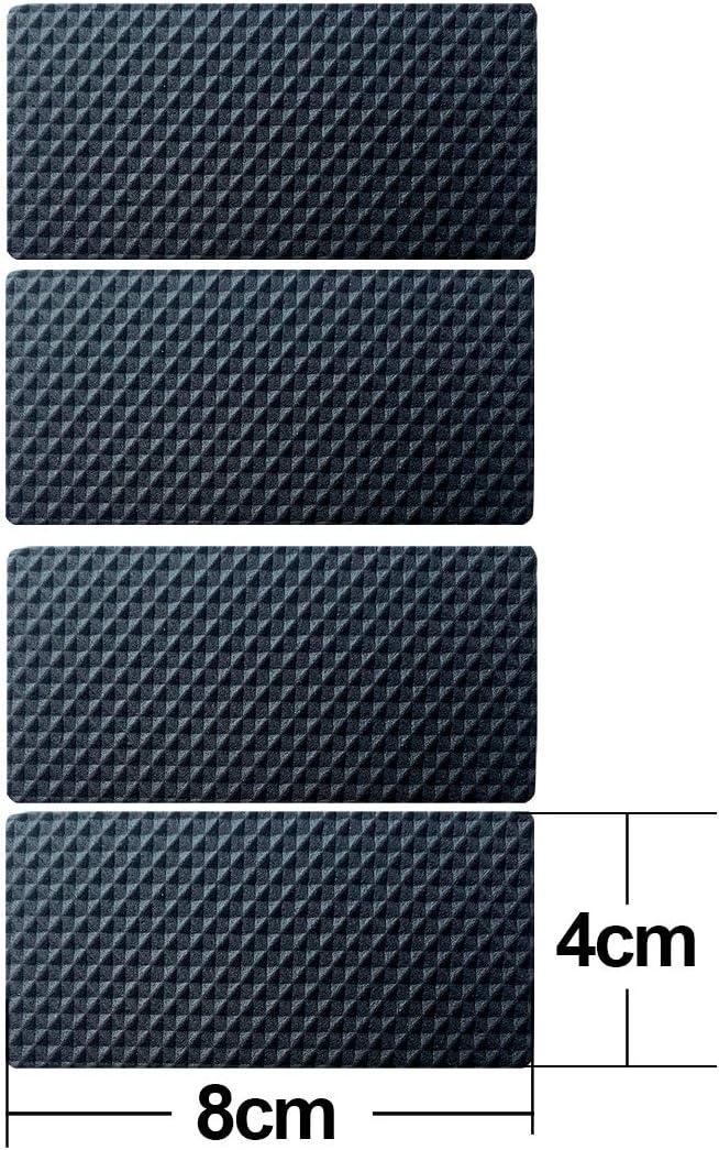 Almohadillas para muebles Almohadilla de fieltro autoadhesiva Almohadillas para muebles de fieltro marr/ón 4 mm de grosor Protectores de piso antiara/ñazos para mantener Cuadrado 25MM 36PCS Negro
