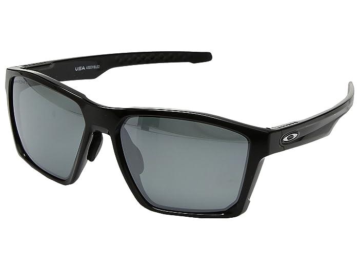 Oakley Targetline (A) (Polished Black w/ Prizm Black Polarized) Athletic Performance Sport Sunglasses