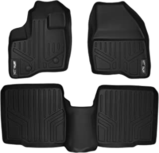 MAXLINER Floor Mats 2 Row Liner Set Black for 2011-2014 Ford Explorer without 2nd Row Center Console