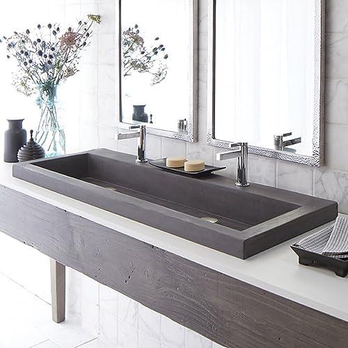 Bon Handcrafted Rectangular Bath Sink In Slate