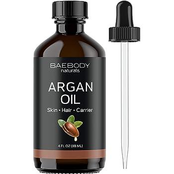 Baebody Argan Oil Moisturizer & Carrier Oil for Face, Skin, Hair & Nails, Large Value Size, 4 Ounces