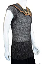 VTC Chainmail Roman Lorica Hamata - Alternating Dome Riveted Construction - Darkened Mild Steel Flat and Round Ring