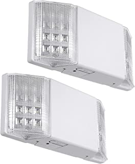 TORCHSTAR LED Emergency Exit Light with Battery Backup UL-Listed, 120V/277V Input, High Light Output for Hallways/Corridors/Stairways, Pack of 2