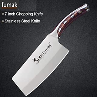 Chef's Knife - Stainless Steel Knife Seamless Welding Resin Fibre Handle High Carbon Blade Utility Chef Chopping Knife Cooking Tools (6inch)