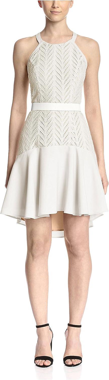 Aijek Women's Eyelet Halter Dress