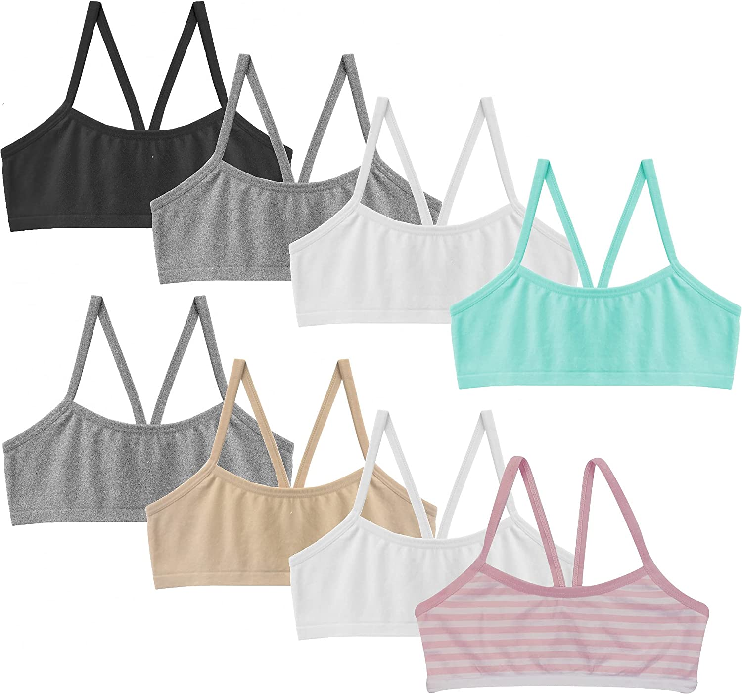 Popular Girl's Max 45% OFF Seamless Crop Manufacturer direct delivery - 8 Pack Bra