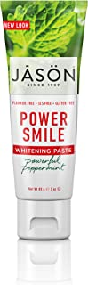 JASON Powersmile Whitening Fluoride-Free Travel Size Toothpaste, 3 Ounce Tube