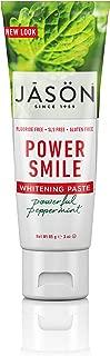 JASON Powersmile Whitening Fluoride-Free Travel Size Toothpaste, 3 Ounce Tube