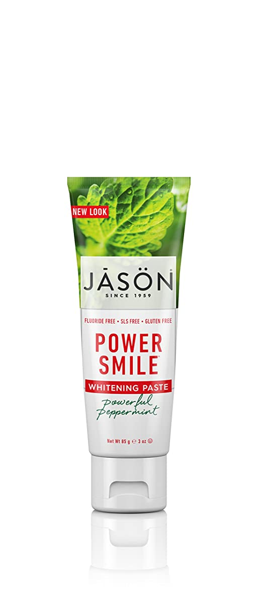 解読する要旨バーベキュー海外直送品Powersmile Toothpaste Antiplaque & Whitening, 3 Oz by Jason Natural Products